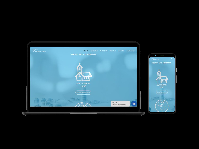 Energy Consulting Website Design